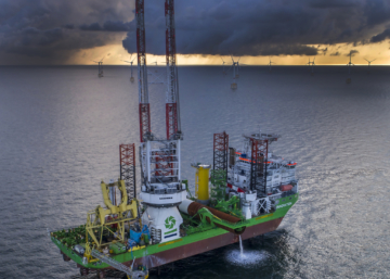 Début de la construction du parc éolien Rentel au large de la côte belge