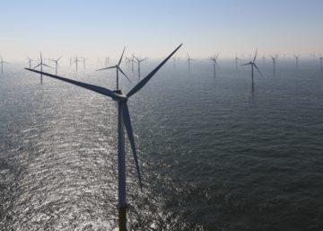 Parcs éoliens en mer du Nord belge – Avril 2019 / Luchtfoto windpark Northwind in de Belgische Noordzee – april 2019