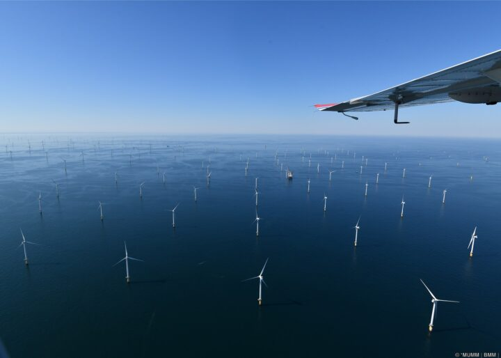 Wind farms in the Belgian North Sea